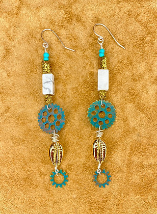 Tick Tock Dangle Earrings