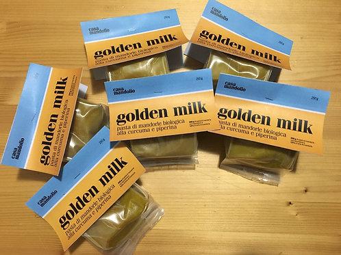 Golden Milk - Pasta di mandorle biologica alla curcuma e piperina 250 gr