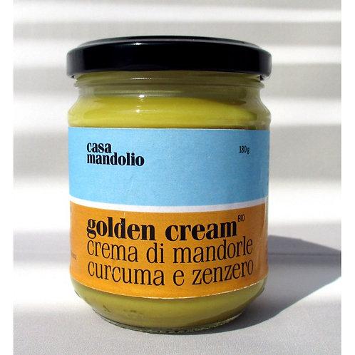 Golden cream - Crema di mandorle, curcuma e zenzero - 180 gr