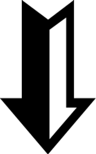 Black and White Down Arrow