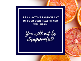 Be an active participant in your health