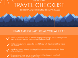 Travel Checklist for people with digestive issues!!