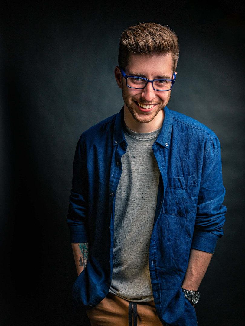 Smile portrait studio picture
