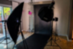 Studio Nicolas Chevallier Photography portrait set up