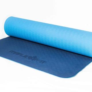 Tapis de yoga bleu