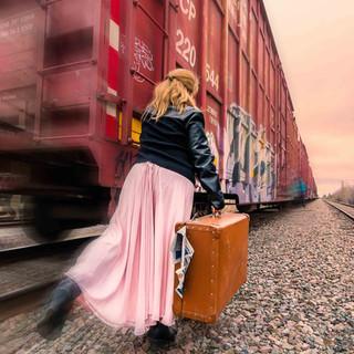Courir après le train