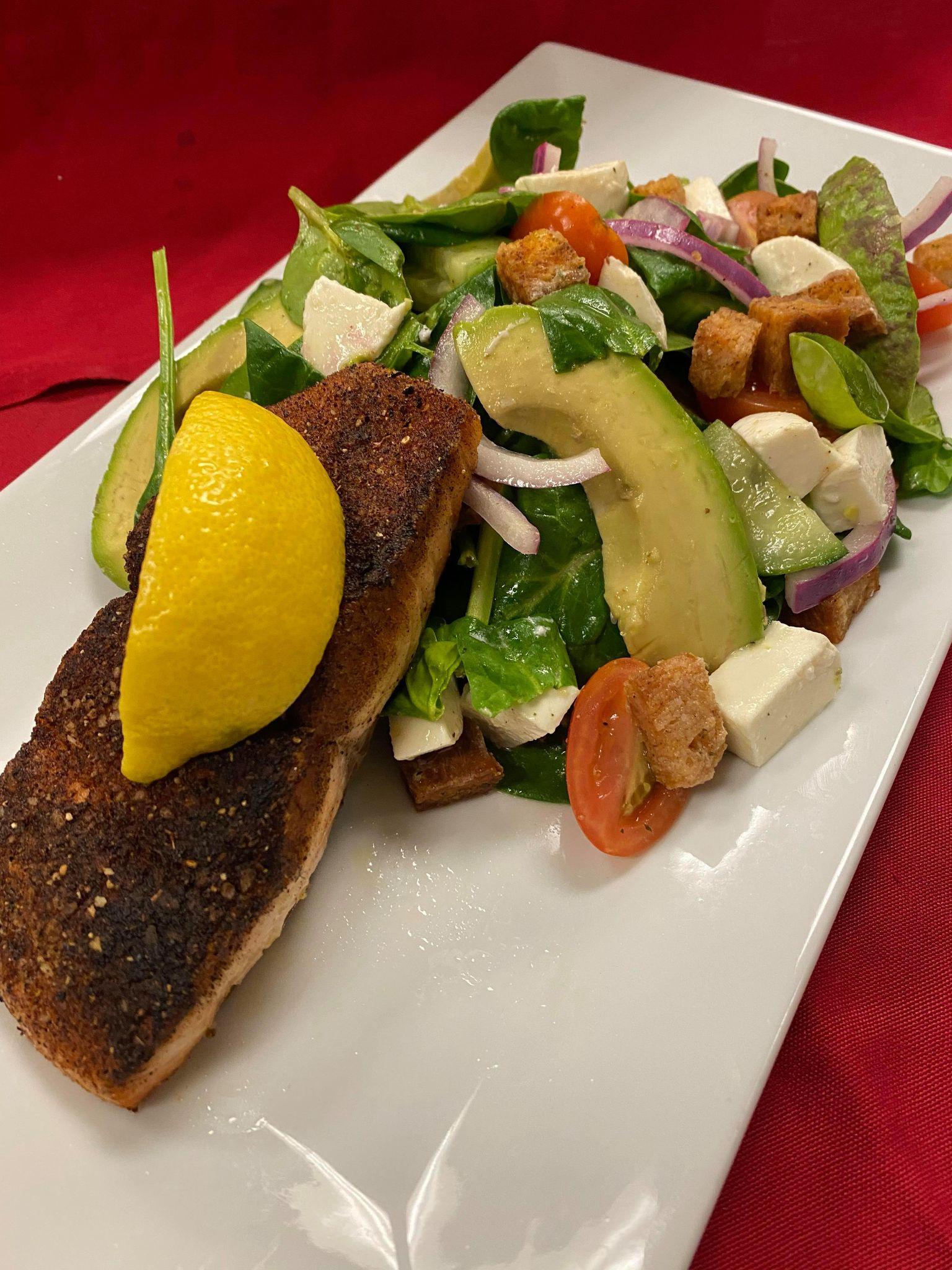 Cajun Salmon Panzanella