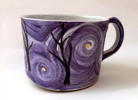 Hand Painted (Majolica) Tree Mug