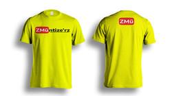 Yellow Tshirt-Photoshop-Template