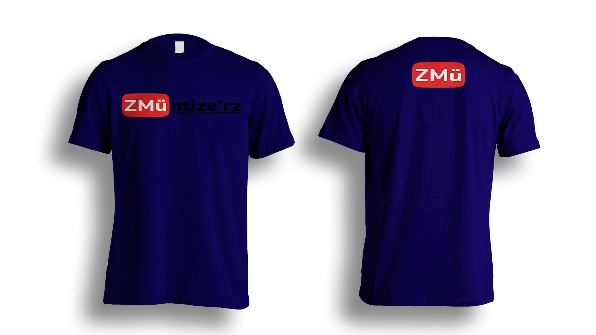 Blue Tshirt-Photoshop-Template