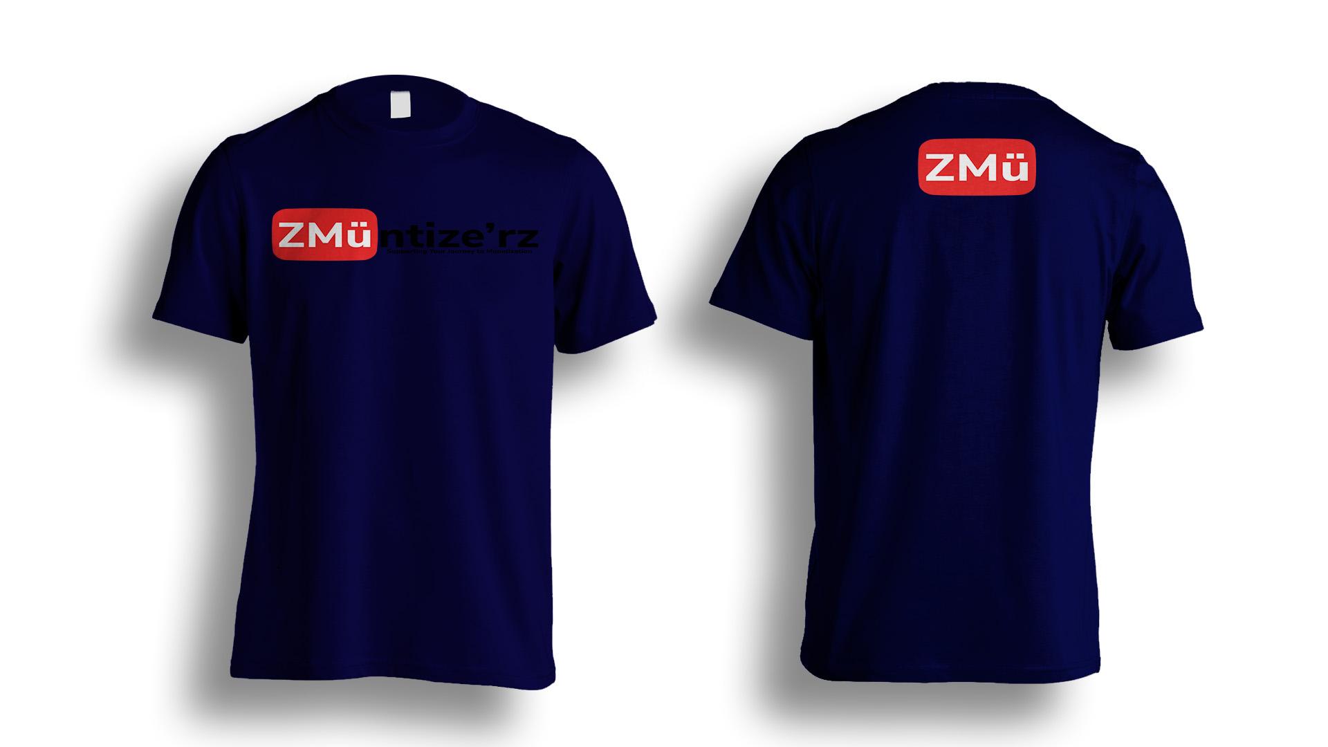 Dark Blue Tshirt-Photoshop-Template