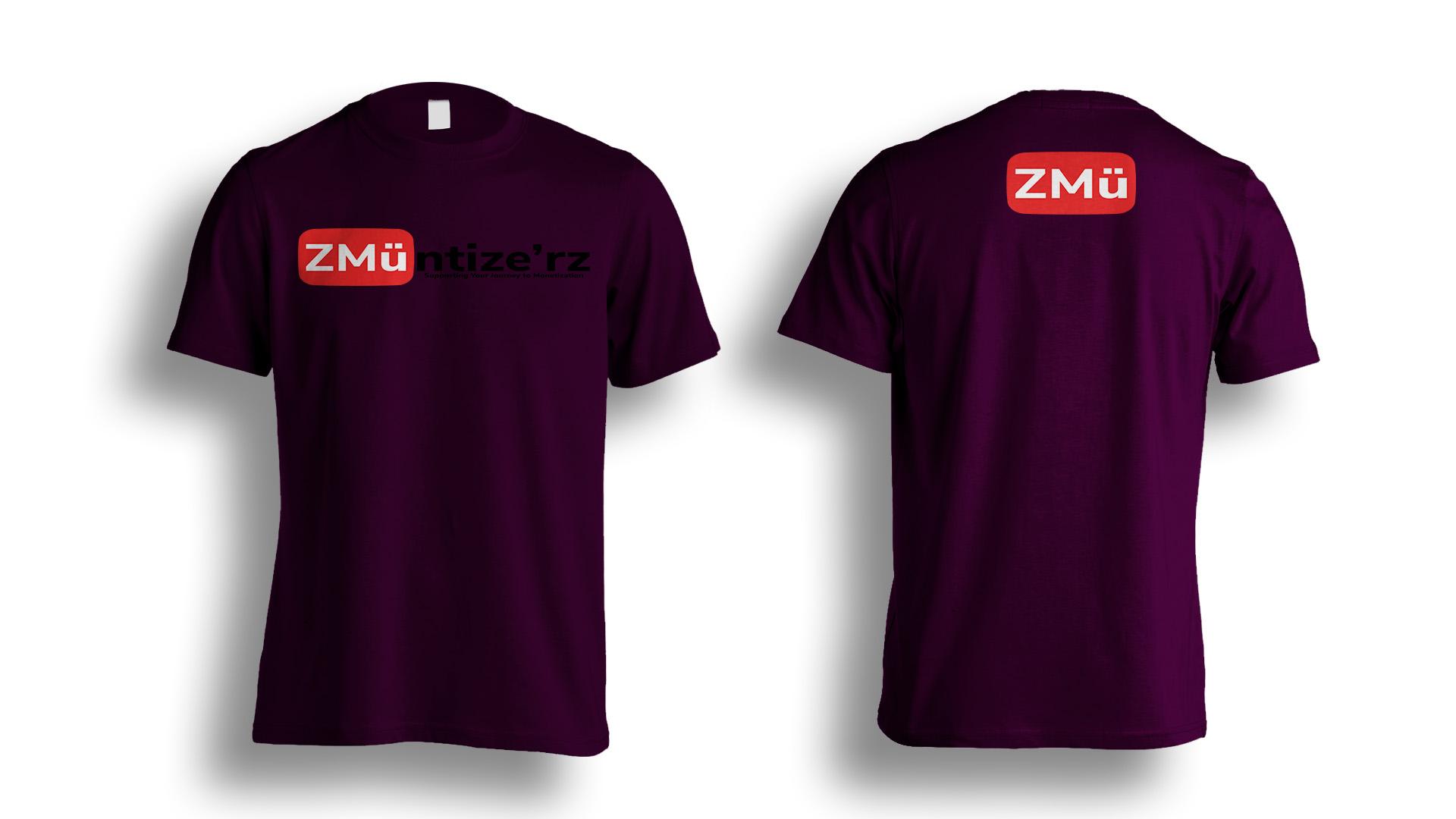 Purple Tshirt-Photoshop-Template
