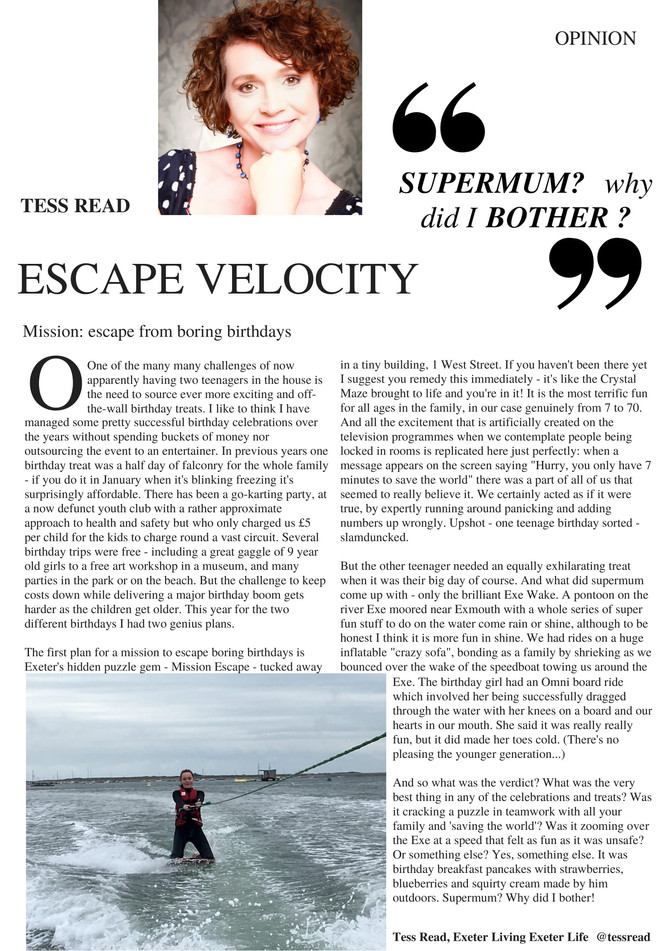 Supermum? Why did I bother? Attempts at the perfect teenage birthday. Jan 2018