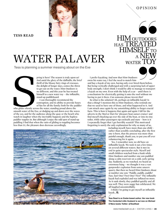 Fun and games on the water - Exeter Living May 2017