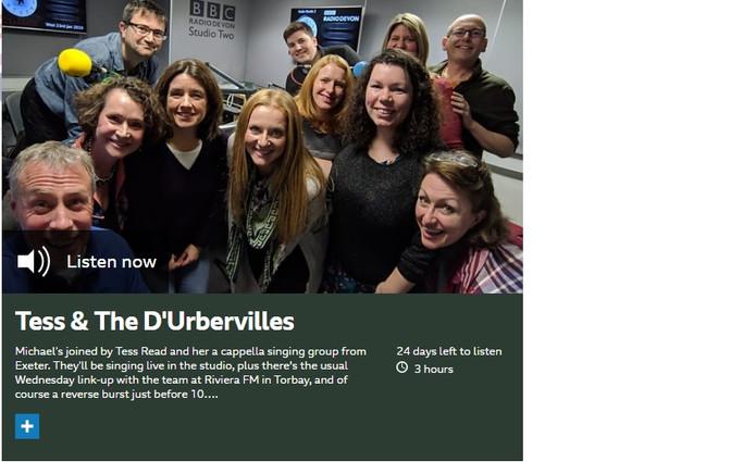 Tess & the d'Urbervilles sing live on BBC Radio Devon