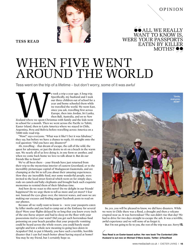 When Five Went Around the World. Exeter Living column Jan 2017