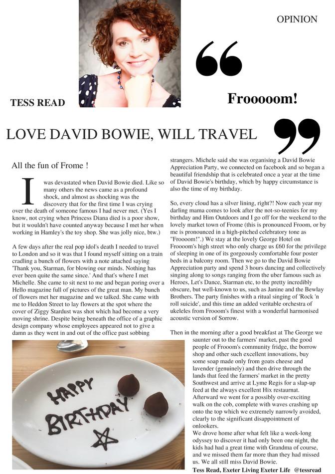 Love David Bowie, will travel. To Frooooom!
