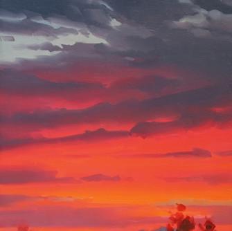 Vibrant Afterglow 12x9