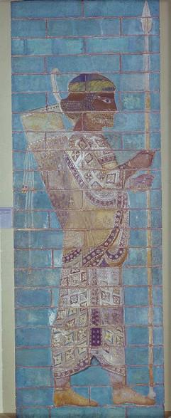 persian soldier susa palace of darius I