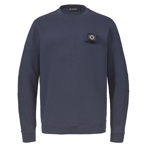 MA.STRUM training crew sweatshirt donker blauw