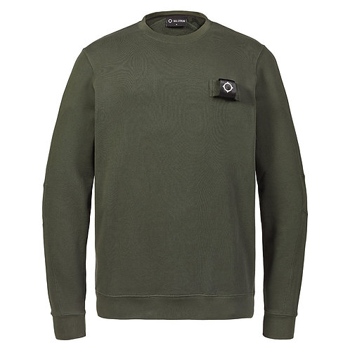 MA.STRUM training crew sweatshirt donker groen