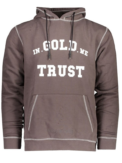 In Gold we trust Hoody model The Dre kleur grijs