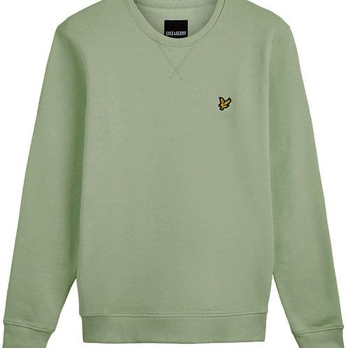 Lyle & Scott sweatshirt model ML424VTR kleur vintage groen