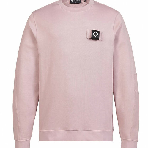 MA.STRUM training crew sweatshirt oud roze / cassis