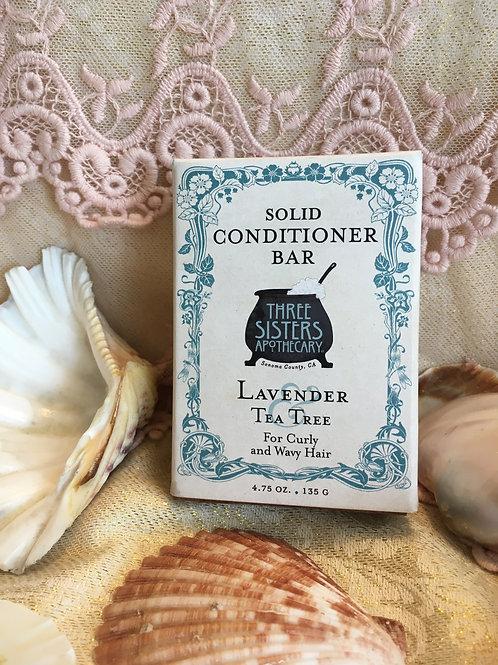 Lavender & Tea Tree Solid Conditioner Bar - Curly & Wavy Hair - 4.75 oz