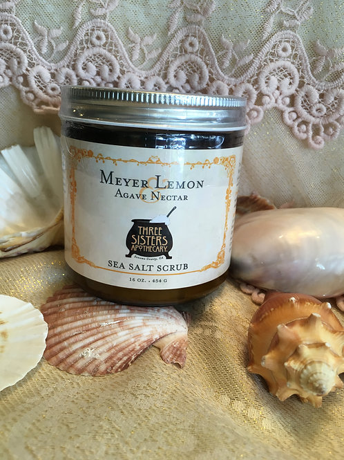 Meyer Lemon Sea Salt Scrub - 16 oz