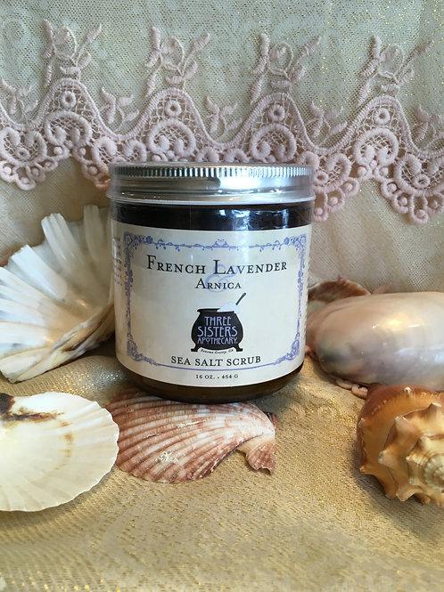 French Lavender Sea Salt Scrub - 16 oz