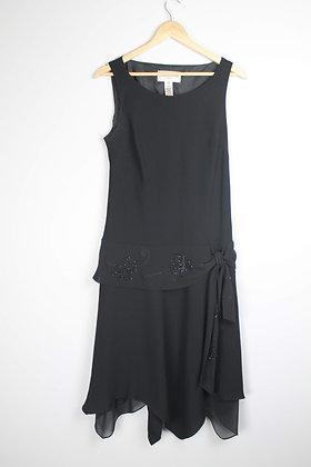 Dropped Waist Beaded Midi Dress