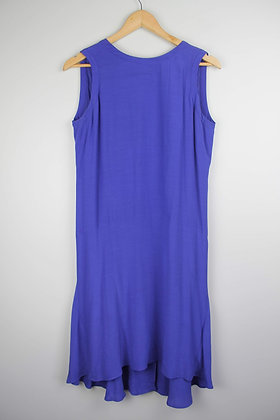 Blue Dropped Waist Mididress