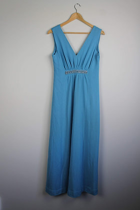 1960s Maxi Dress with Bead Trim