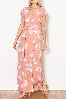 Cotton Candy LA Floral Wrap Dress