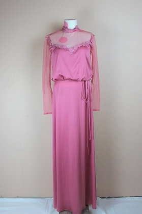 70s High-neck Gown