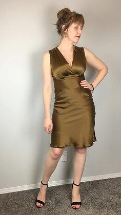 Copper Silk Cocktail Dress