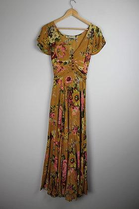 Floral Cotton Tie-Back Maxi Dress