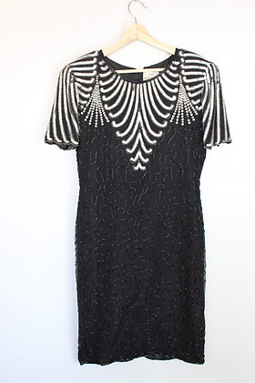 Vintage Beaded and Sequined Dress