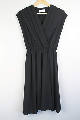 Black Wrapfront Dress