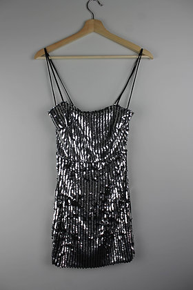 Sequin Lace-back Minidress