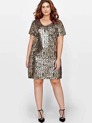 Cheetah Print Sequin Minidress
