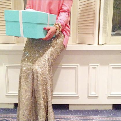Gold Sequin Maxi