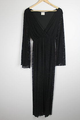 Black Longsleeved Lace Maxi