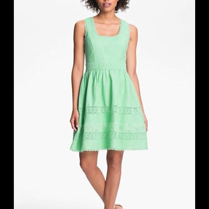 Fit-and-Flare Mint Green Dress