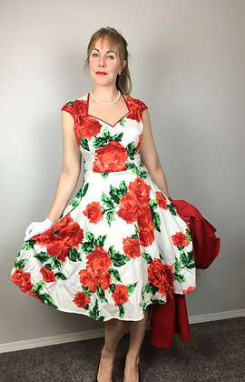 1950's Style Floral Dress
