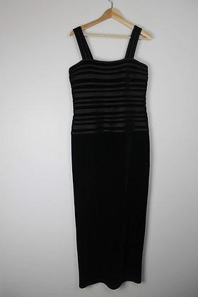Black Velvet Gown with Bandage Bodice
