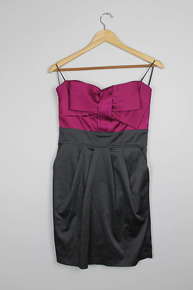 Colour Block Strapless Cocktail Dress