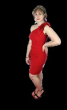 One-Shoulder Knit Cocktail Dress