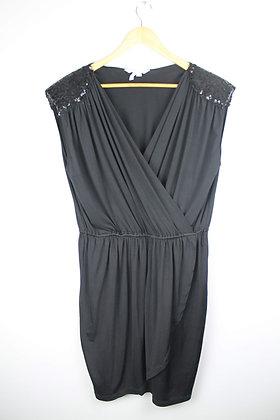 BCBG Sequin Shoulder Stretch Dress